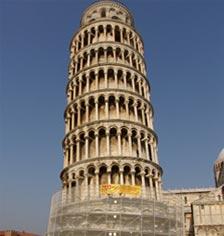 Reti di protezione anticaduta per la torre di Pisa