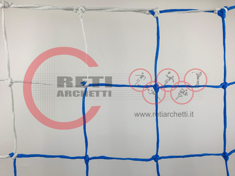 COPPIA RETI PER PORTE DA CALCETTO DA MT. 3 X 2 – MOD. BICOLORE – ART. A5 BIC.